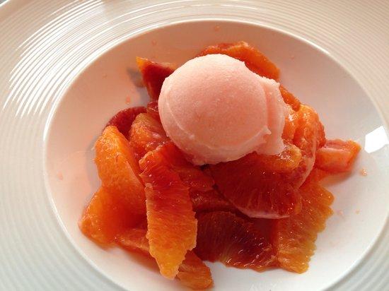 Box Caffe: Oranges et sorbet