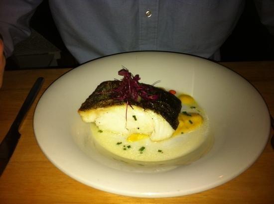 Purple Goose: Pan fried cod