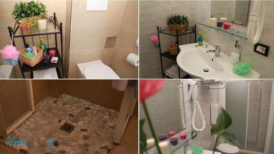 Hotel Ambrosiana: alcuni dei bagni delle nostre stanze