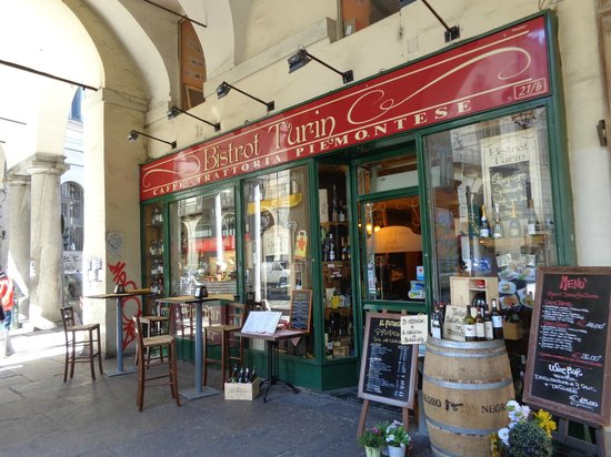 Bistrot Turin : l'esterno sotto i portici di via Po