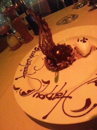 Beautiful anniversary dessert picture of ringside fish for Ringside fish house