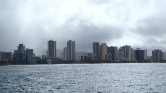 Aston Waikiki Beach Hotel: Waikiki from boat