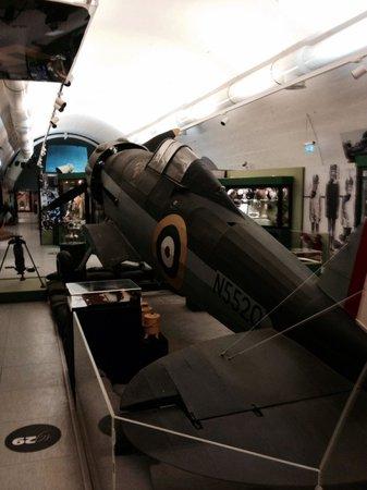 The National War Museum: Un Gloster Gladiator aereo inglese della difesa su Malta