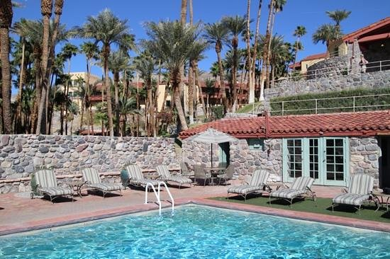 The Ranch at Death Valley : Furnace Creek Inn from the pool