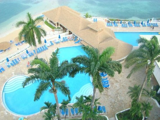 Sunscape Splash Montego Bay : View of pools from Toweer B 10th floor balcony