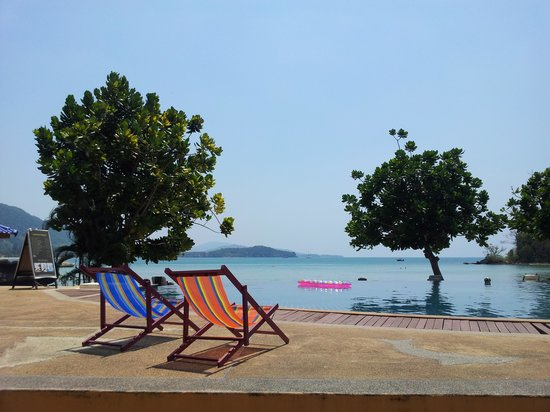 Golden Bay Cottages: Pool view
