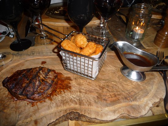 The Steak House: … and really delicious steaks