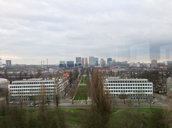 Hilton Amsterdam: view from executive lounge