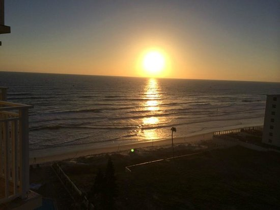 Hyatt Place Daytona Beach - Oceanfront: sunrise from the balcony at Hyatt Place Daytona Beach Shores