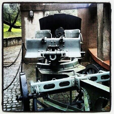 Il Vittoriale degli Italiani: cannone