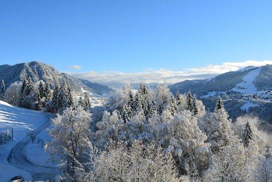 Les Balcons du Mont-Blanc - Vacances ULVF: Vue de notre chambre