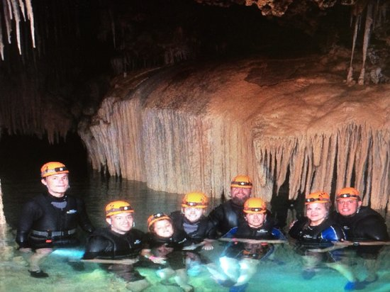 Rio Secreto: In the cave with our group