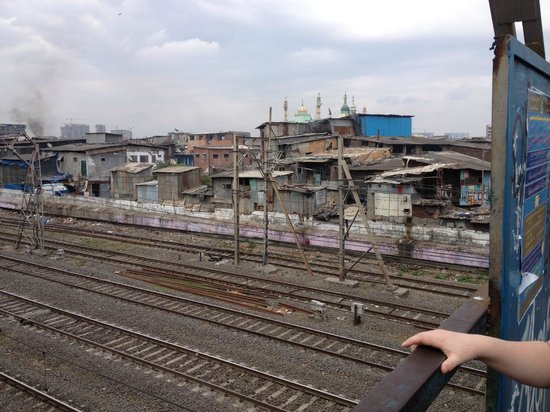 Reality Tours and Travel - Day Tours: View from Mahim station bridge
