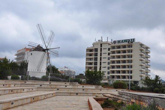 Intertur Hotel Hawaii Ibiza : molino y hotel