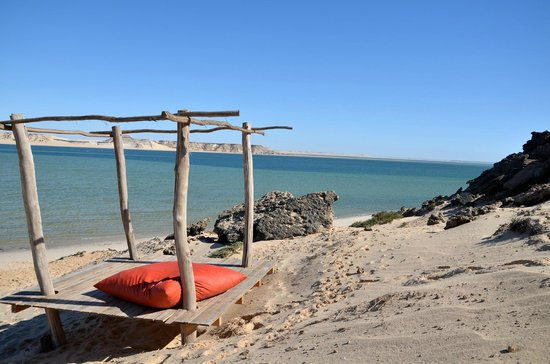 Dakhla Spirit Lagoon Camp : espace lounge