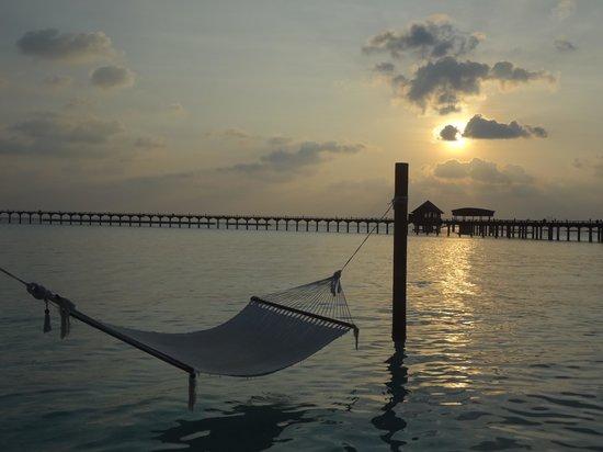 The Sun Siyam Iru Fushi Maldives: coucher de soleil
