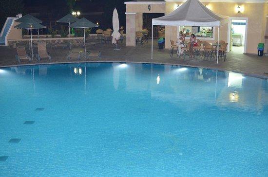 Lindos Imperial Resort & Spa: pool at night