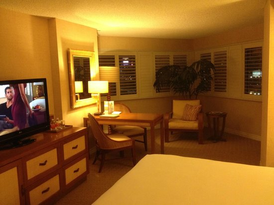 Tropicana Las Vegas - A DoubleTree by Hilton Hotel: Club tower room/small suite facing the Mandalay Bay