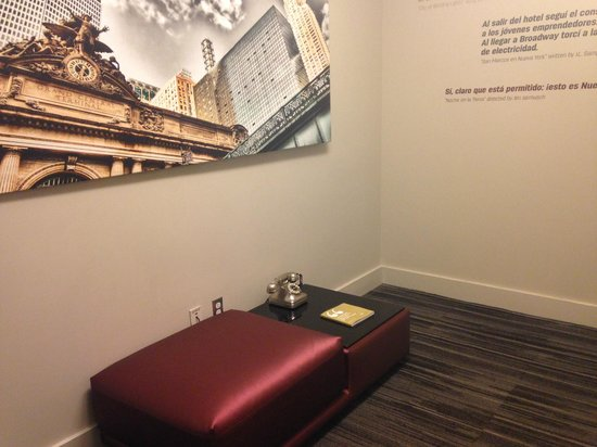 Dylan Hotel NYC: area outside of 8th floor elevators