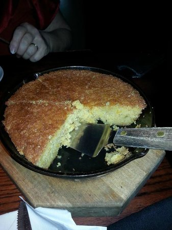 Cornbread served in skillet picture of redstone american for Redstone grill