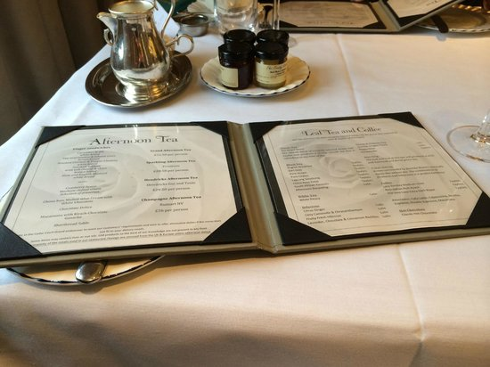 The Grand Afternoon Tea: Menu