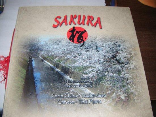 Restaurante Sakura : Menu