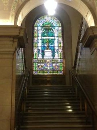 Central Public Library: Stained glass windows