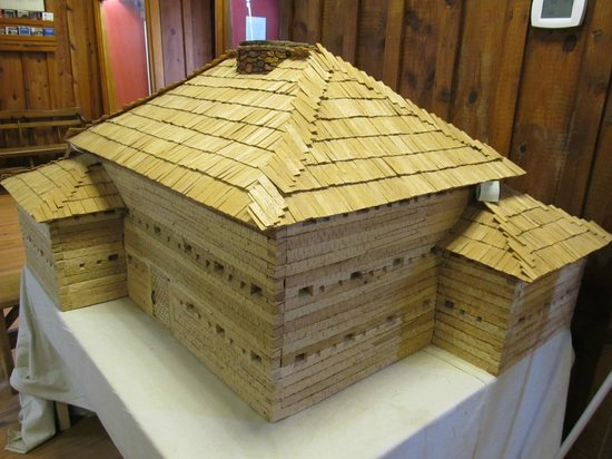 Fort Dobbs: Model of what the Fort looked like