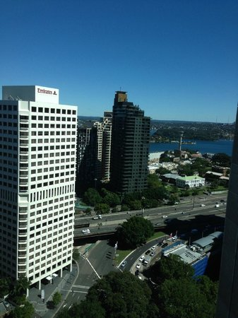Amora Hotel Jamison Sydney: View (right) from room window.
