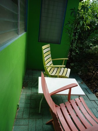Eldemire's Tropical Island Inn: Right out our back door