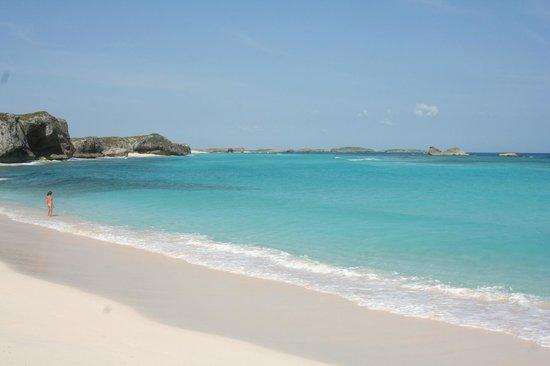 Blue Horizon Resort: The beach at Mudjin Harbor