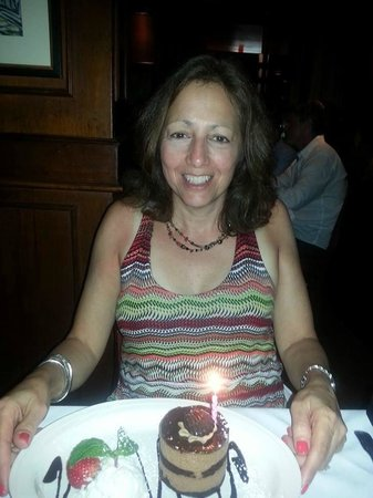 Caffe Luna Rosa : Enjoying a delicious  birthday dessert!