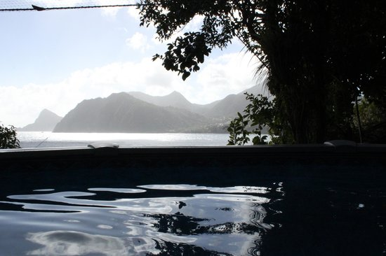 Zandoli Inn - View from pool overlooking Grand Bay