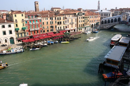 Palazzo Bembo : This was the view from our room of the Rialto Bridge and the Grand Canal.