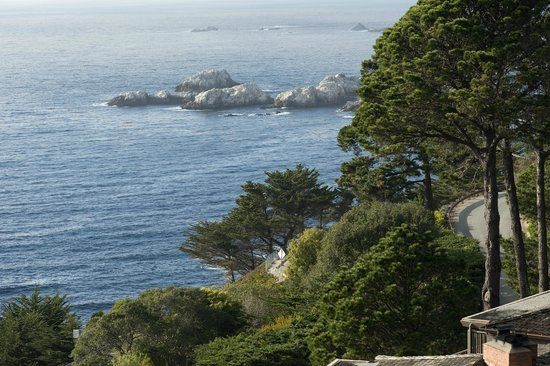 Tickle Pink Inn: Looking northwest toward Point Lobos