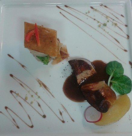 La Terrasse: duo de foie gras