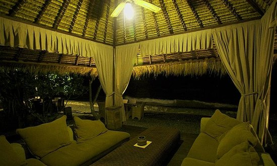 Gazebo At Night At The Beach House Balikpapan Picture Of The Beach