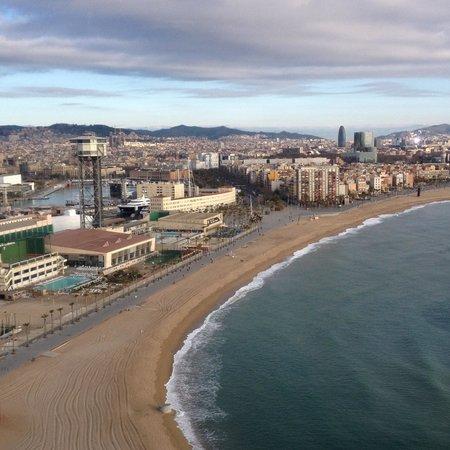 W Barcelona: Vistas desde habitacion planta 19