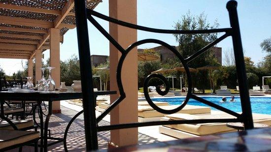 La Maison des Oliviers : Extérieur côté piscine