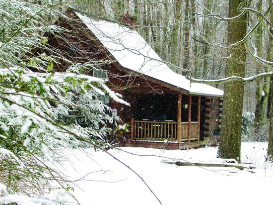 Cricket Hill Cabins: Apple Blossom cabin in the winter