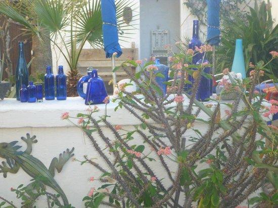 El Angel Azul Hacienda: courtyard