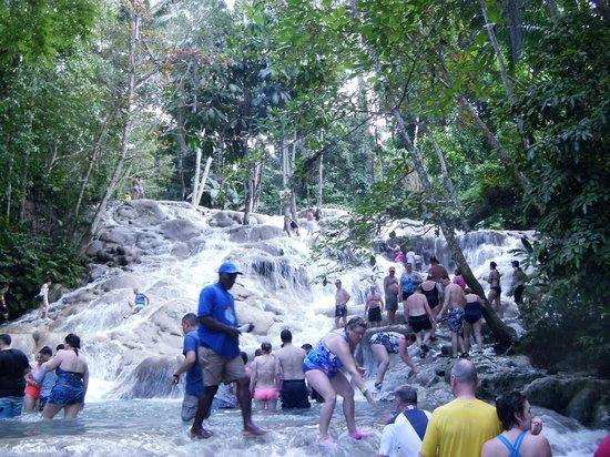 Dunn's River Falls and Park: Climbing the falls