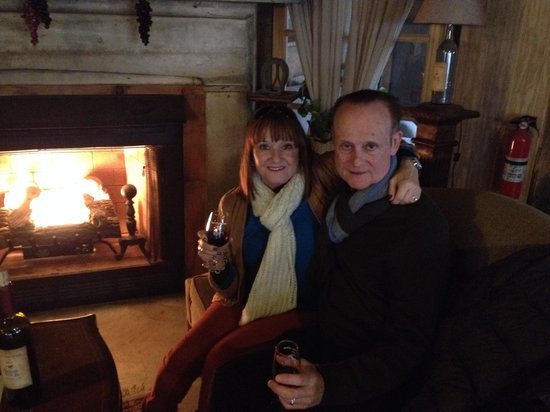Aspen Dale Winery at the Barn: Cozy by the fire place