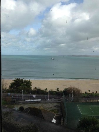 St. Ives Harbour Hotel & Spa: Porthminster beach from room 209