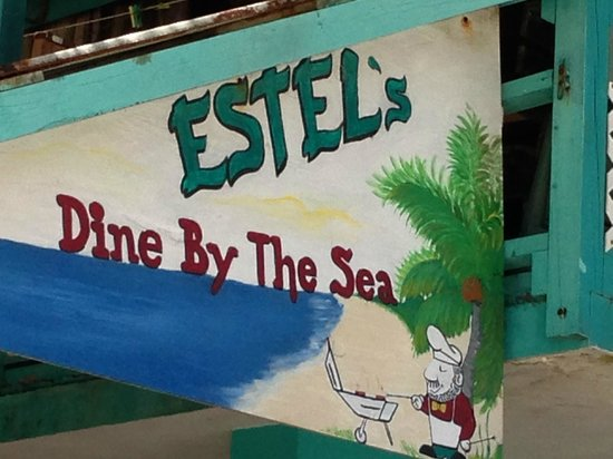 Estel's Dine by the Sea: Sign