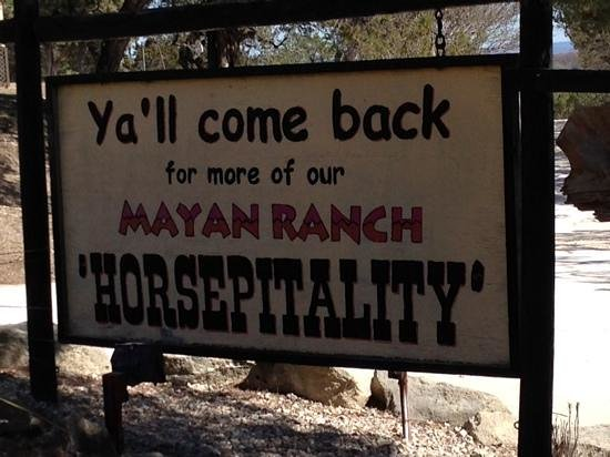 Mayan Dude Ranch: We certainly will do!