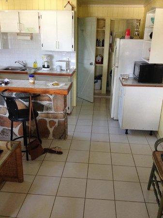 Star Villas: kitchen from porch
