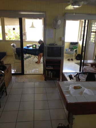 Star Villas: view into porch from kitchen