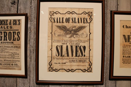 Tennessee State Museum: Poster of Slave Sale