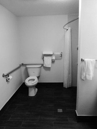 Comfort Inn - Los Angeles / West Sunset Blvd.: Huge ! ADA bathroom in our hotel room
